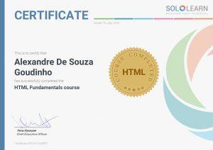 Certificate SoloLearn HTML