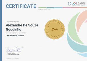 Certificate SoloLearn C++