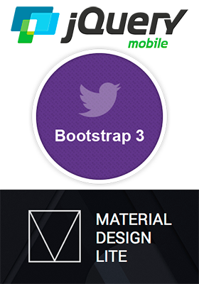 JQuery Mobile, Bootstrap 3, e MDL Google Material Design Lite